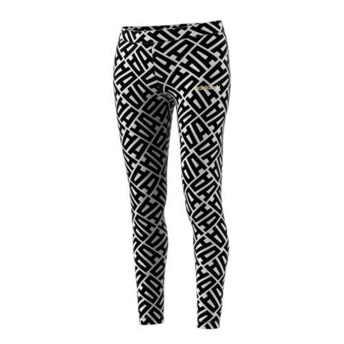 Adidas Originals All Over Print Women/'s Leggings Black//White br0311