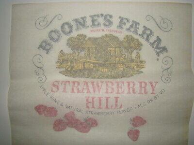 Amichevole 1970s Originale Boone's Fattoria Fragola Hill Vino Su Ferro Trasferimento