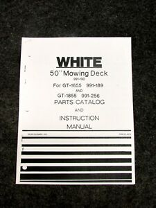 Image Is Loading 1979 White 50 Inch Mowing Deck 990 190