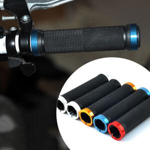 Double-Lock-on-BMX-MTB-Mountain-Bike-Bicycle-Cycling-Handle-Bar-Handlebar-Grips