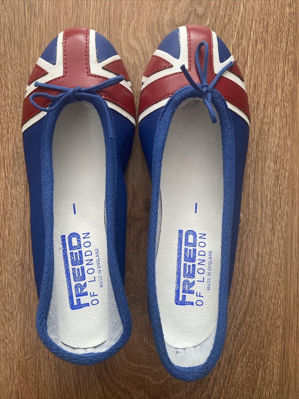 Freed Of London Union Jack Leather Ballet Flats