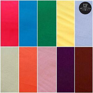 """Premium Tinta Unita Popeline Tessuto Di Cotone, Colori in Tinta Unita, 21 colori, Largo 44"""""""