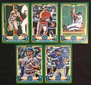 Details About 2019 Topps Gypsy Queen Baseball Green Parallel Cards Lot You Pick