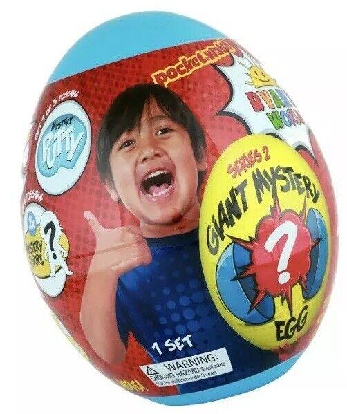 Ryan's värld Giant Mystery Egg blå Series 2 Brand New HTF Putty Figur