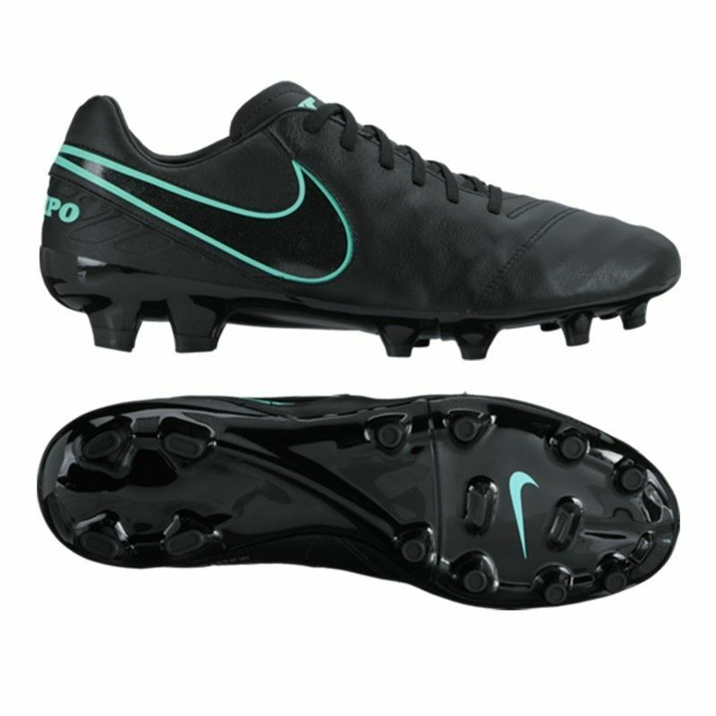 Nike Tiempo Mystic V FG Botines de fútbol para hombre Talla 7.5 negras 819236 004