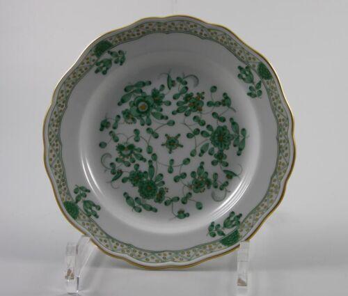Meissen Teller indisch grün reich Goldpunkte 1 Wahl 343310 Ø16,5cm