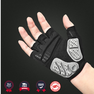 Cycling Gloves Half Finger Thick Padded Palm Sport Fitness MTB Bike Sports Glove