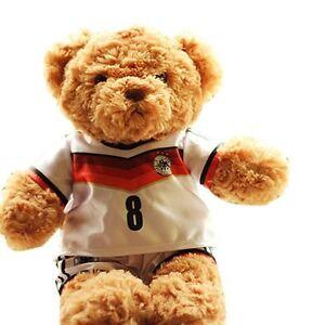 Plush Teddy Bear Soccer Football Club Team Shirts Uniforms World Cup Mascot Doll