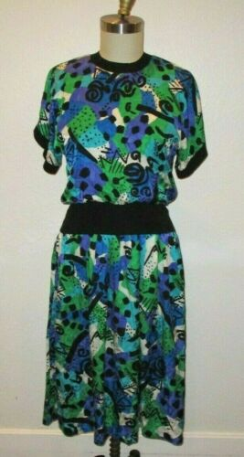 Vintage 1980's 1990'S 100% silk ADRIANNA PAPELL DR