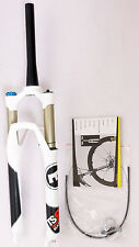 """mr-ride MAGURA TS8 R100 26"""" Fork 1390g,Remote Lockout 1- 1/8"""" to 1.5"""" White"""