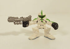"2004 Green Clone Trooper 2"" Action Figure Star Wars Hasbro Galactic Heroes"