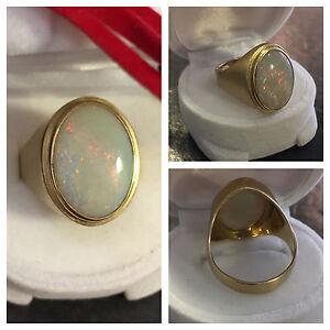 Mattierter-Opalring-Goldring-mit-ovalem-Opal-585er-Gold-Ring-14-Karat-Gr-58