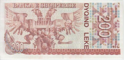 Albania Banknote P59 200 Leke 1996 UNC