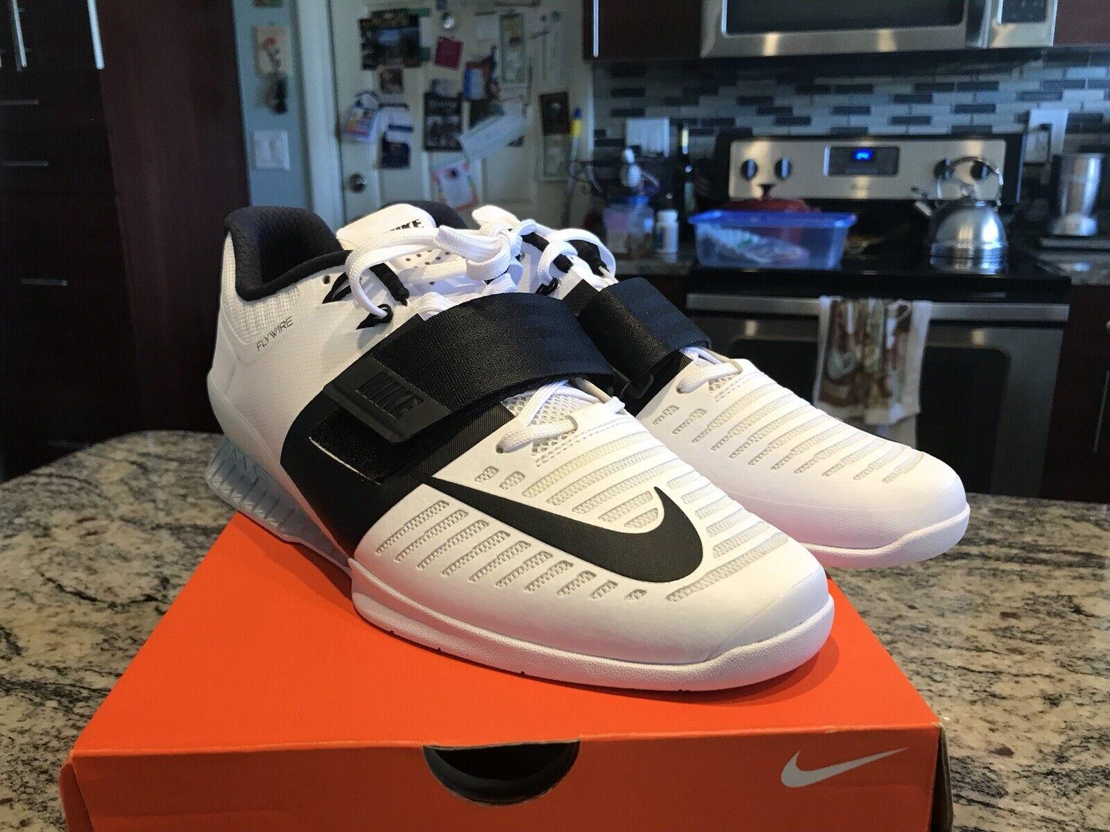 newest collection 5a9dc 99ea5 Brand New Nike Romaleos 3 Weightlifting Weightlifting Weightlifting  Training scarpe Uomo Dimensione 11 (852933-101) 47e0a5