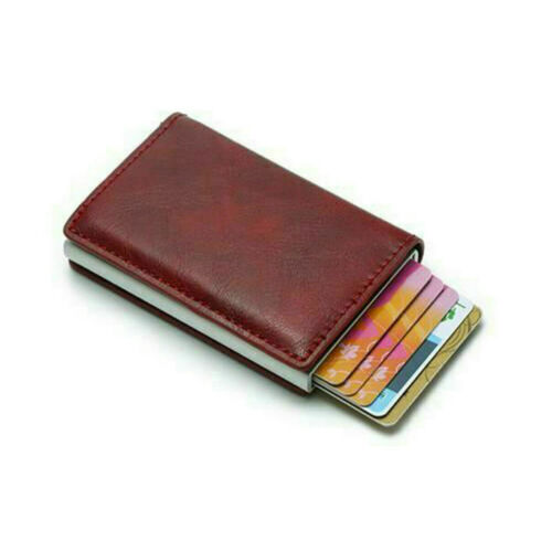 Folding Men Wallets RFID Anti-theft Credit Card Leather Wallet Holder Purse New