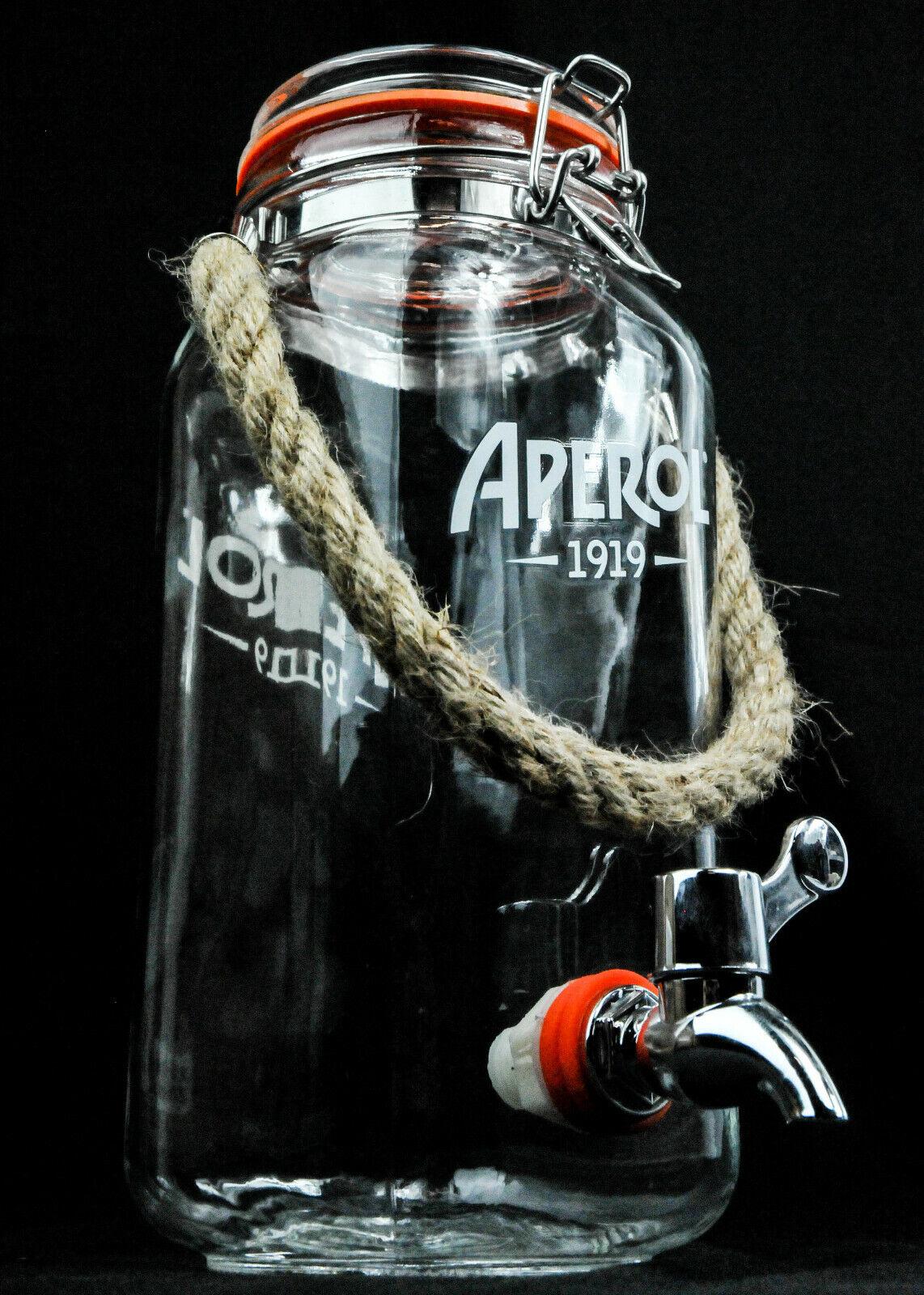 Aperol crie, 1,5 L Table-Zapfanlage, louche  1919 , bec verseur  table Barrel  O