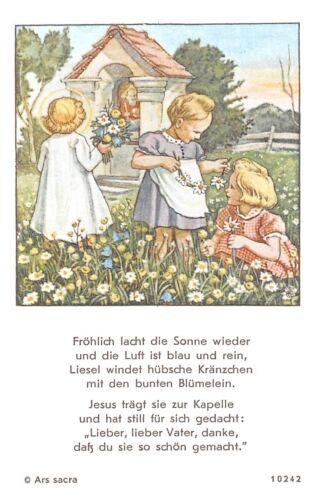 """werzinger/"""" Holy card Ars sacra /""""h590/"""" Santo figurita imagen gebetbild /""""E"""