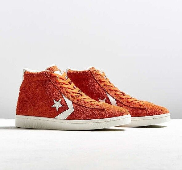 buy online 388ea 5969f NIB Converse Pro Leather 76 Mid Suede fIRE / Egret / Egret 155338C US Mens  12