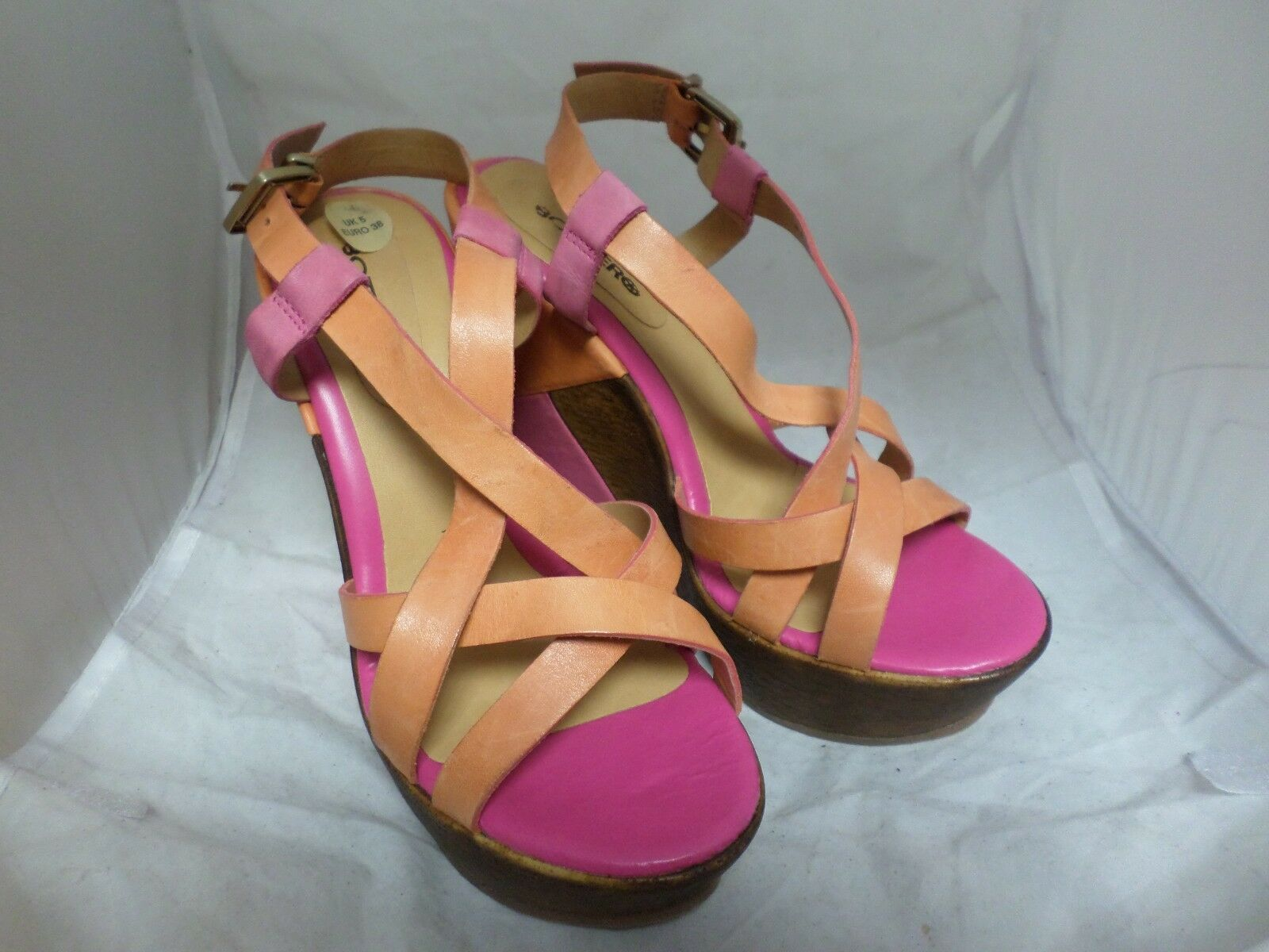 Bottero Ultra Wedge Sandale Pink/Orange 19 UK 5 EU 38 LN05 19 Pink/Orange 68a846