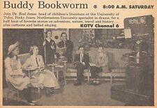 1958 KOTV TV AD~BUDDY BOOKWORM SHOW hosts PINKY & ROD JONES in TULSA OKLAHOMA