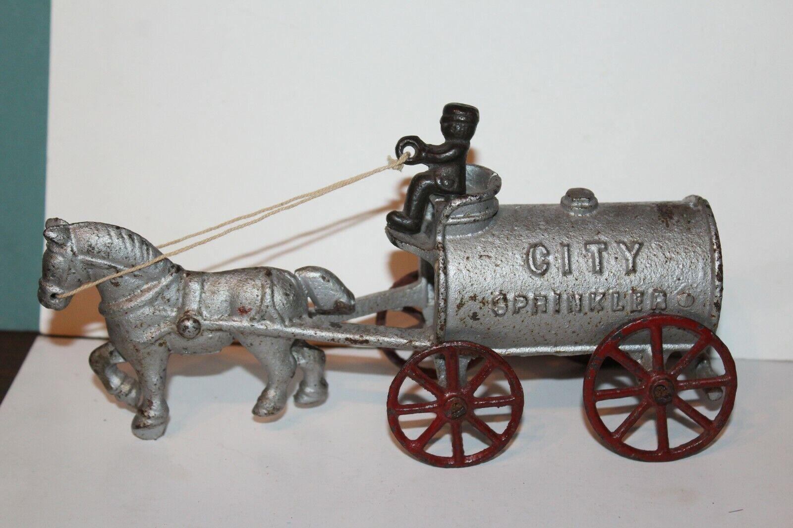 Agréable Rarement vu Vintage Hubley Fonte City Gicleur Approximativement 1900