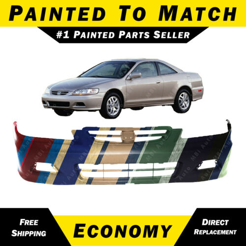 NEW Painted to Match Front Bumper Cover for 2001 2002 Honda Accord Coupe 2 Door