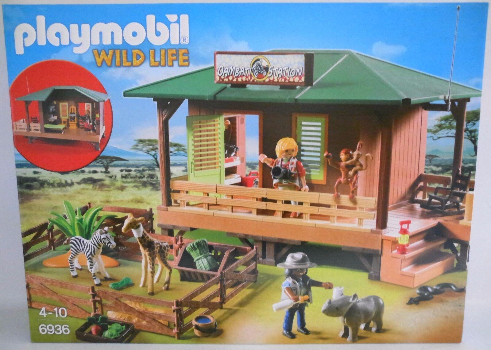 NEU PLAYMOBIL® WILDLIFE 6936 Rangerstation mit Tieraufzucht  OVP