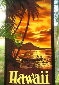 """Bath Towel 60/"""" x 32/"""" ~ RAINBOW /& TROPICAL PARROTS Pool Hawaiian Hawaii Beach"""