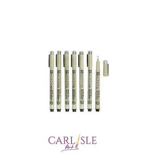 Pigma Micron Pen Black Choose Your Size Sakura