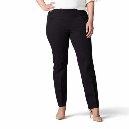 Choose SZ//Color LEE Women/'s Plus SZ Sculpting Fit Slim Leg Pull on Pant