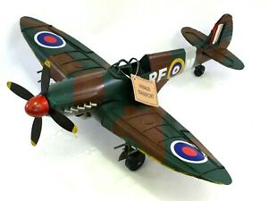 Large-World-War-Spitfire-Battle-of-Britain-Model-Airplane-Tin-Plate-46cm-Span