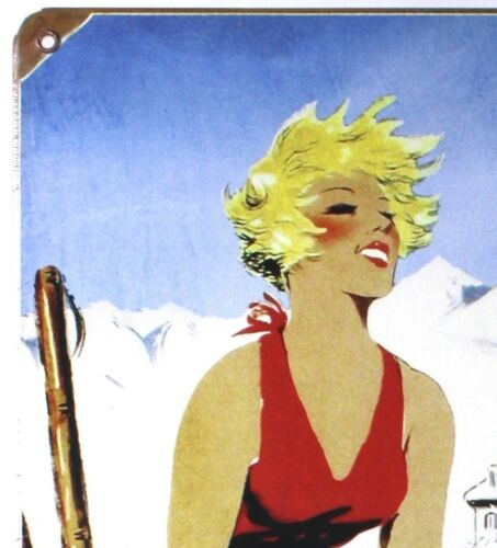 SKI MAMMOTH CALIFORNIA METAL SIGN Snowboard Sports NEW Vintage Repro Retro USA