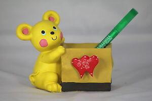 BEAR VALENTINE Desk Tidy Holder - Fun Valentine's Gift - BEAR HUG Love Token!