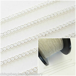 1 Ft Sterling Silver Cable Chain 3.5x2.6mm Jewellery Making Chain