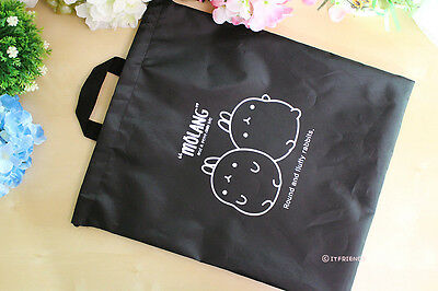 Molang Lovely Cute rabbit Bunny portable shoe dust pocket pouch bags - twins