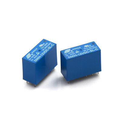 2pcs Blue 8 Pin SMIH-12VDC-SL-C DC 12V 16A 250VAC Power Relay