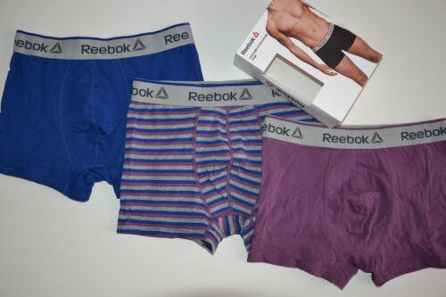 Men/'s REEBOK 3 PACK COTTON ELASTANE TRUNK BRIEFS-GENUINE CLASSIC Underwear S-M-L