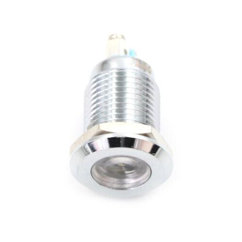 LED Indicator 12mm Thread Metal 12V 24V 230V Light Panel Signal Pilot ControlZP