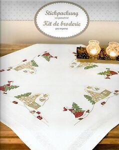 RICO Design Stickdecke Mitteldecke kompl. 80x80 cm  Weihnachten