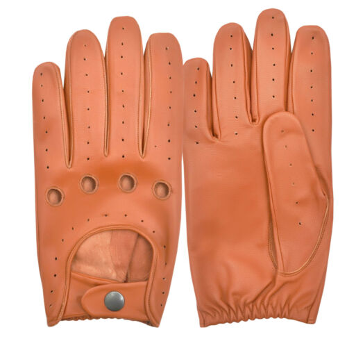 GLOVES DRIVING CAR GENUINE LEATHER MEN'S FULL FINGER CHAUFFEUR CLASSIC VINTAGE