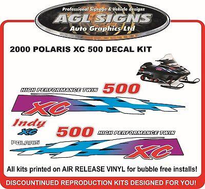 shroud  graphic 1996  POLARIS INDY XCR 440 SP HOOD DECALS