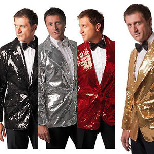 Deluxe-Black-Silver-Red-or-Gold-Sequin-Sequinned-Showman-Cabaret-Compere-Jacket