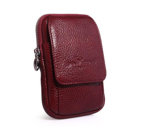 Men Leather Hip Belt Pouch Purse Fanny Pack Cell Phone Case Cover Male Waist Bag