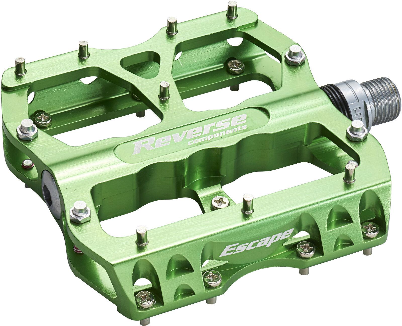 Reverse escape Flat bicicleta pedal verde claro