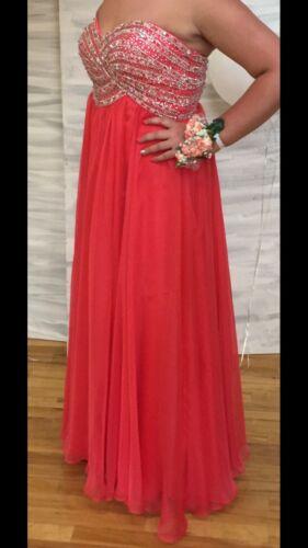 Sherri Hill Strawberry Prom Dress