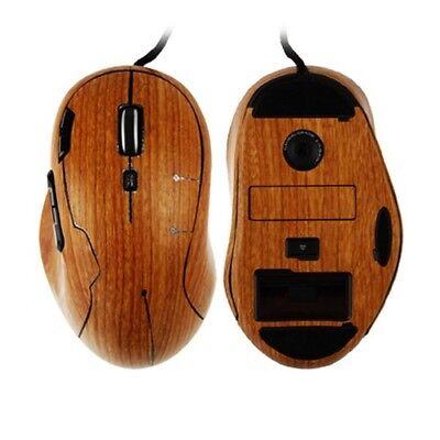 Skinomi Gaming Mouse  Skin Dark Wood Full Body Cover for Logitech MX518