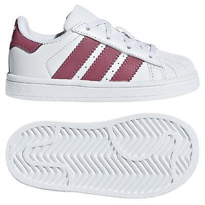 Adidas Originals Bambini Superstar Scarpe Bianco 3 Strisce Guscio Punta Nuovo   eBay