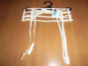 Gate Style White Suspender Belt Daniel Axel Size 8//10 /& 10//12 Available