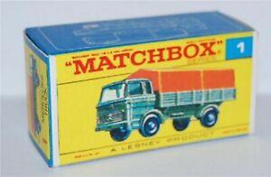 Matchbox-Lesney-No-1-Mercedes-Truck-empty-Repro-Box-style-E