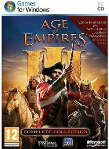Age-of-Empires-III-3-Complete-Collection-PC-with-Warchiefs-Asian-Dynasties-NEW
